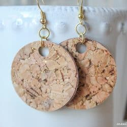 These Cork Earrings are my new favorite accessory!