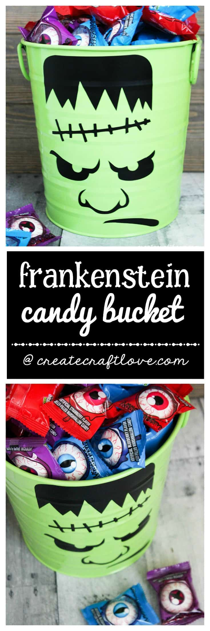 Pass out candy to your trick or treaters with this Halloween Candy Bucket!