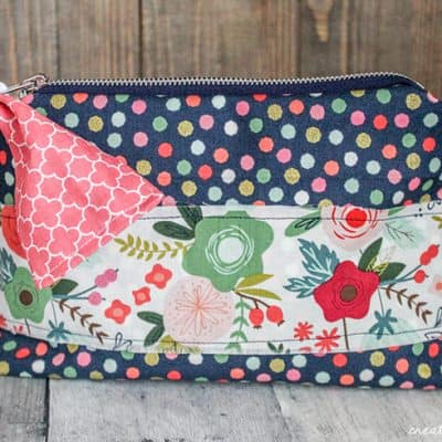 Little Zipper Bow Pouch with Cricut