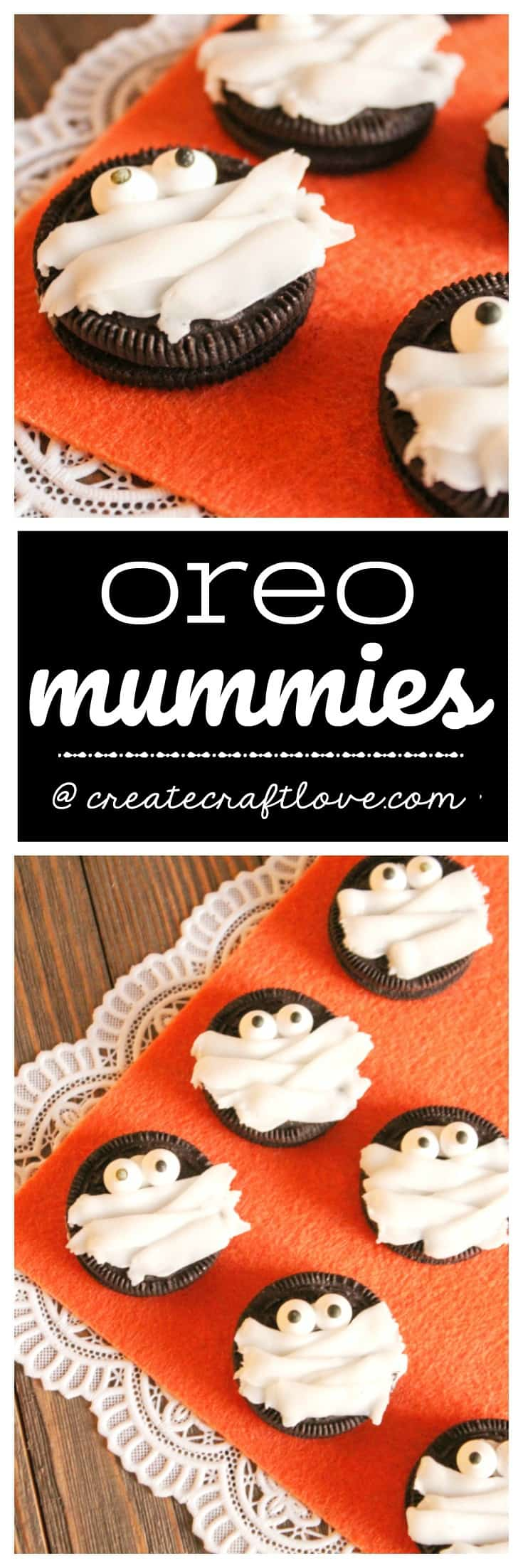 These Oreo Mummies are perfect for classroom or costume parties this Halloween!