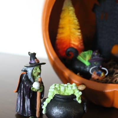 How to Style a Pumpkin Diorama