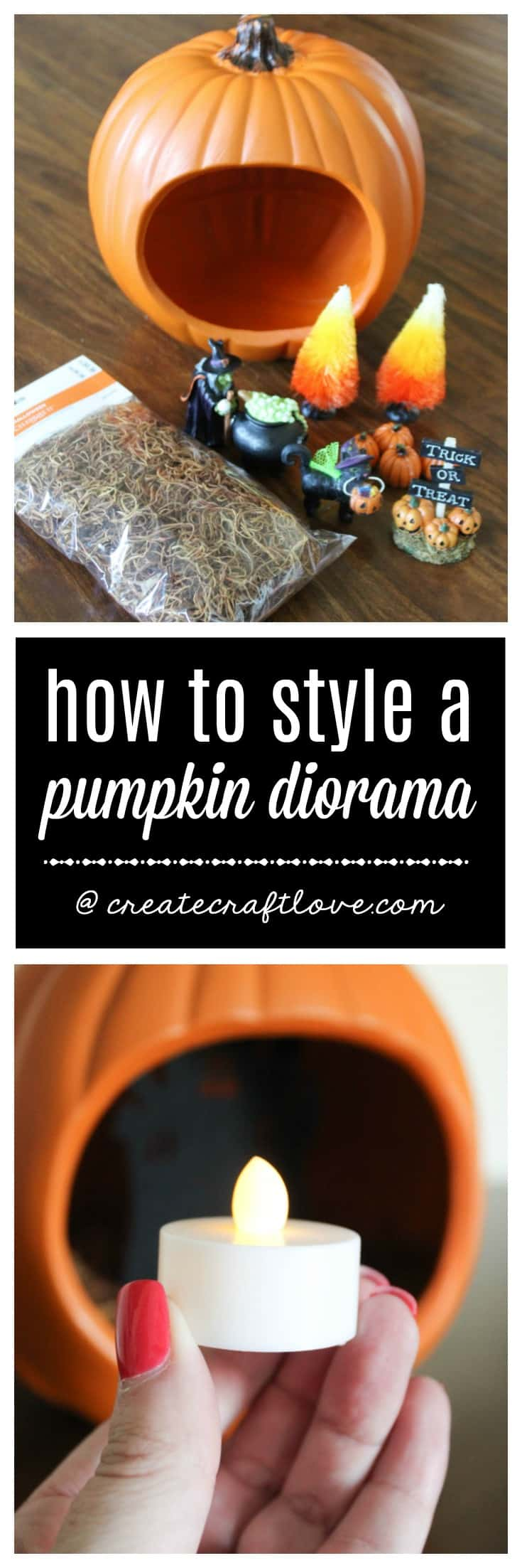 Create your own Pumpkin Diorama this fall for a new twist on traditional Halloween decorating!