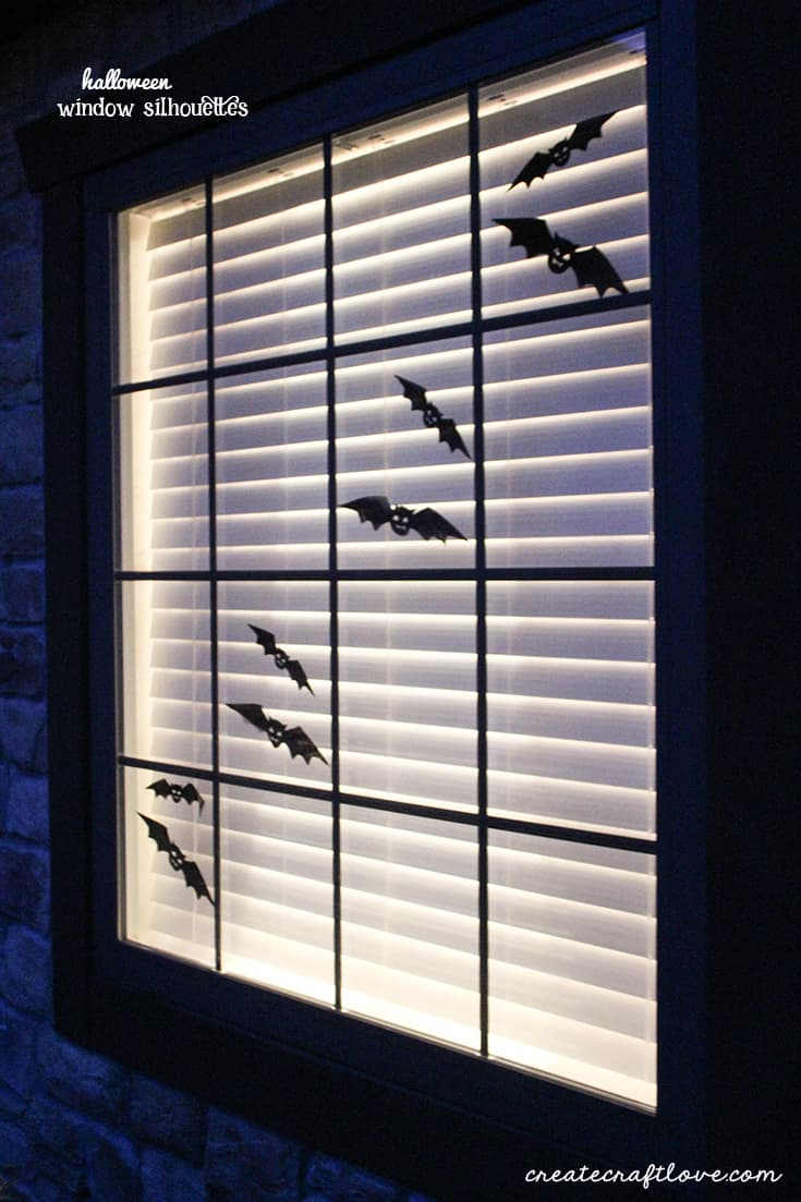 dress up your windows for halloween with these window silhouettes
