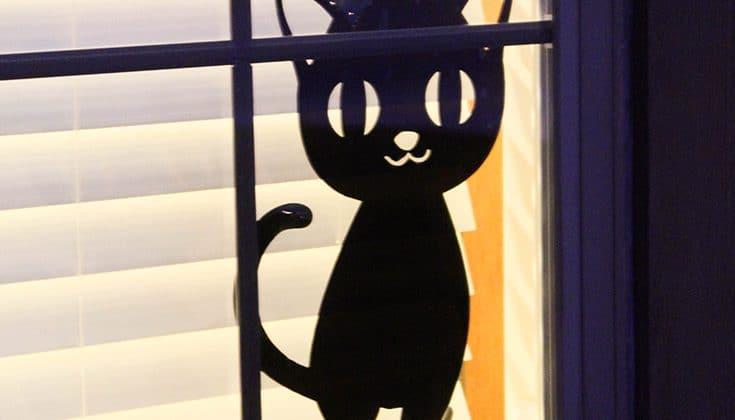 Window silhouette at night