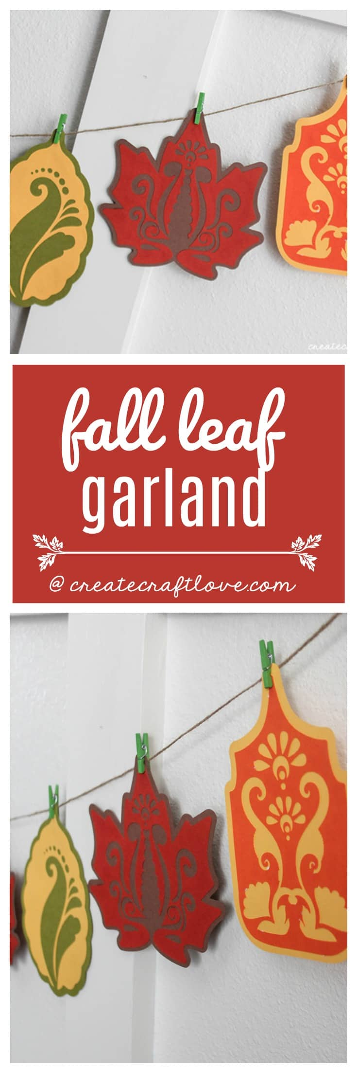 This Fall Leaf Garland is a great way to add some DIY to your fall decor!