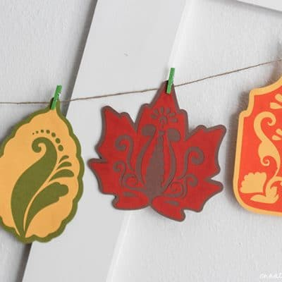 Fall Leaf Garland | October SVG Bundle