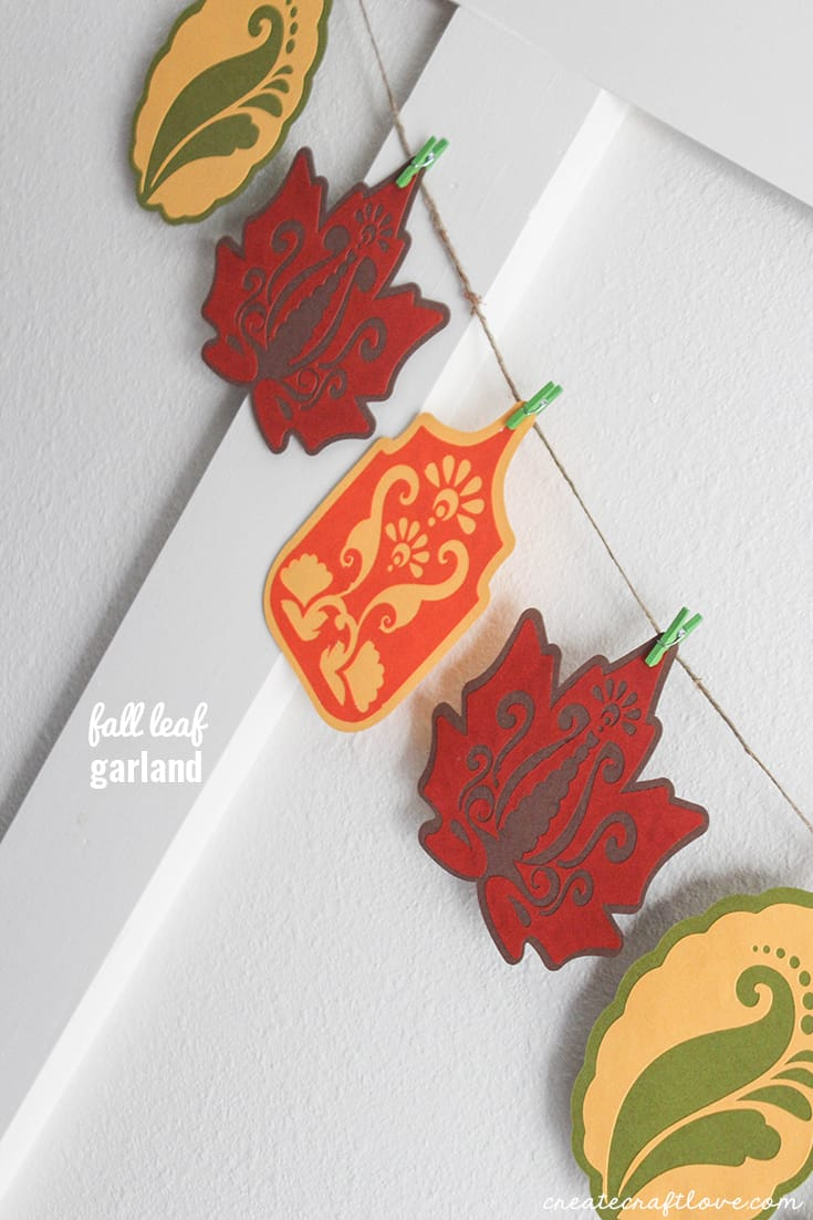 This Fall Leaf Garland celebrates the seasons changing and adds a pop of color to your fall decor!