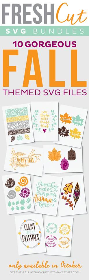 Great fall designs available in this month's SVG bundle!