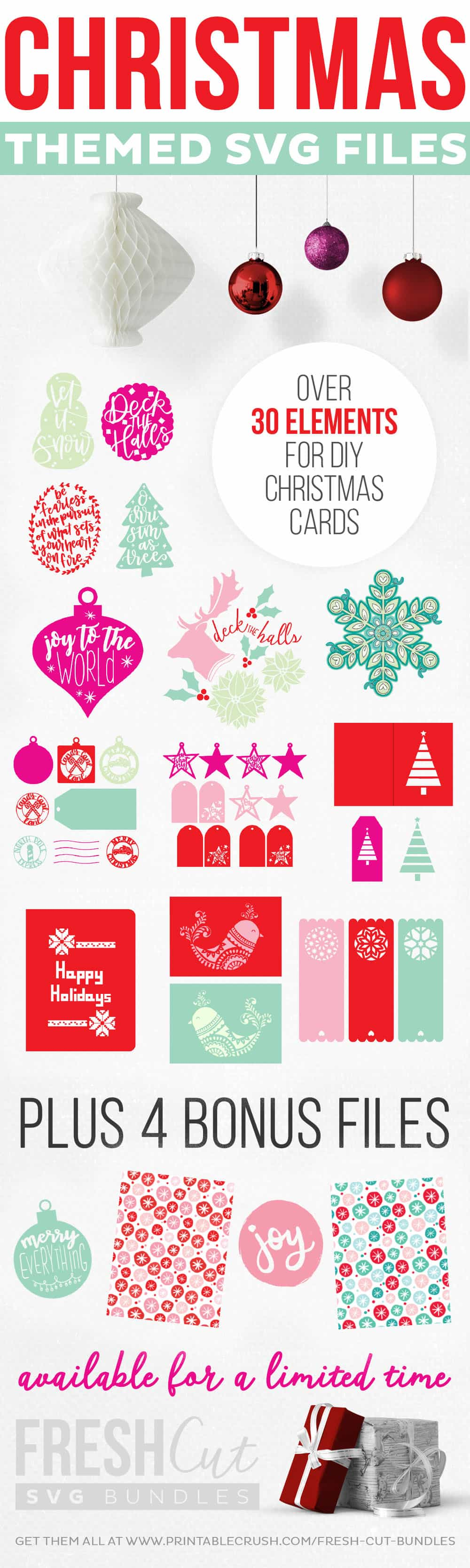 Add a little handmade to your holidays with these Holiday Cards and Gift Tags!