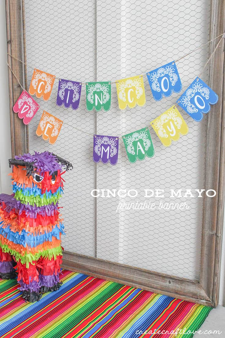 This Cinco de Mayo Printable Banner is the perfect addition to your fiesta!