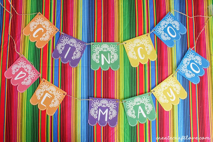 cinco de mayo printable banner horizontal