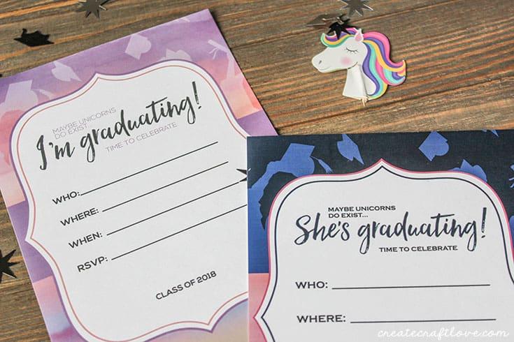 customizable graduation invitations create craft love