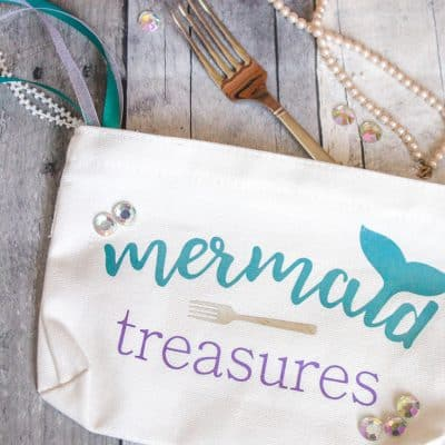 DIY Mermaid Makeup Bag