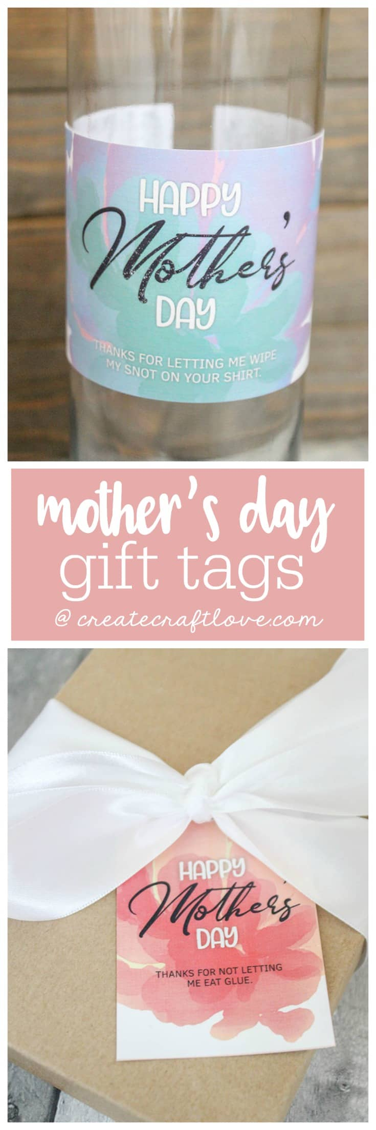 These Mother's Day Printable Gift Tags are hysterical and a great way to top off those gifts and packages for Mom!