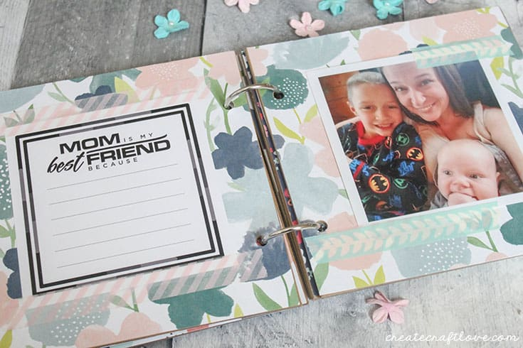 mothers day photo album with pic and printable
