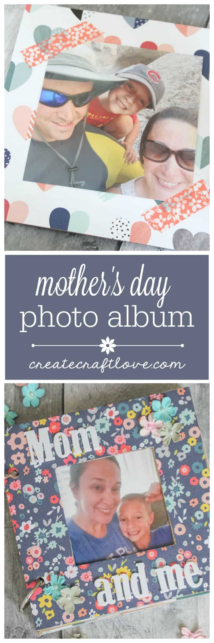 Melt Mom's heart with this DIY Mothers Day Photo Album!  We created free printable questionnaire stickers to personalize each project!
