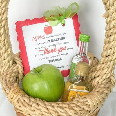 Appletini Teacher Appreciation Idea