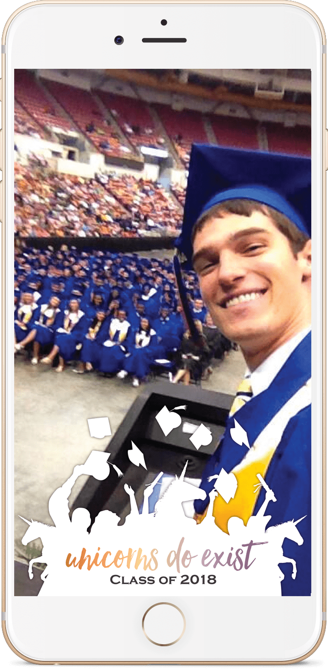 Share your favorite graduation pictures with all of your friends with this free Graduation Geo-filter!