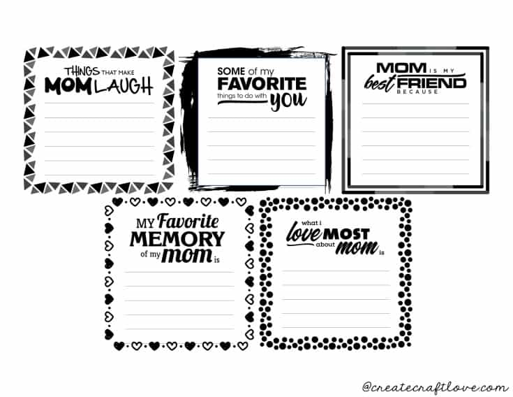 mother's day photo album printables