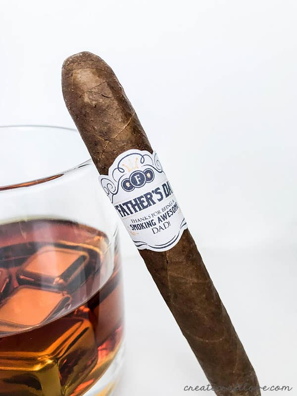 printable whiskey labels with bonus file for cigar band
