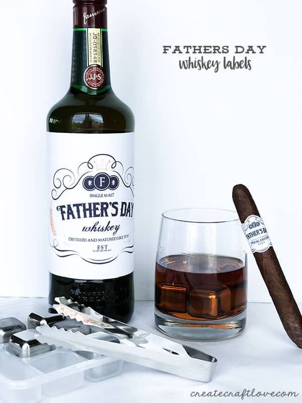 Surprise the whiskey lover in your life this Fathers Day with our custom Whiskey Labels!