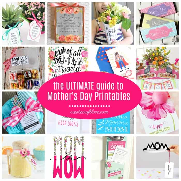 Honor Mom any day of the year with any of these amazing Mother's Day Printables!