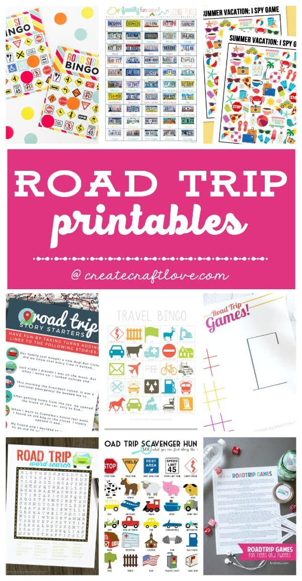 photo relating to Road Trip Scavenger Hunt Printable identified as Highway Holiday Printables for Your Up coming Family vacation - Establish Craft Delight in