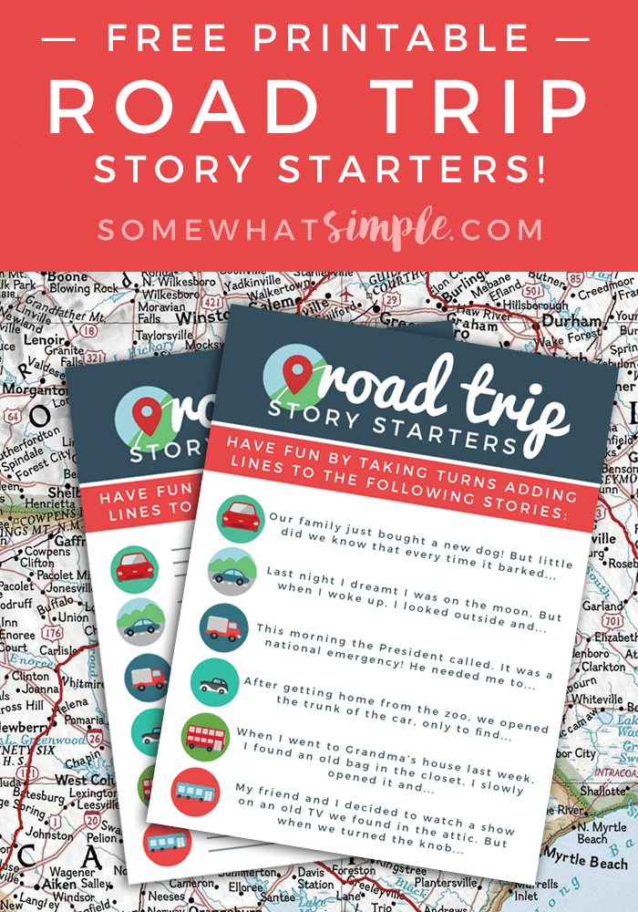road trip printables for your next trip