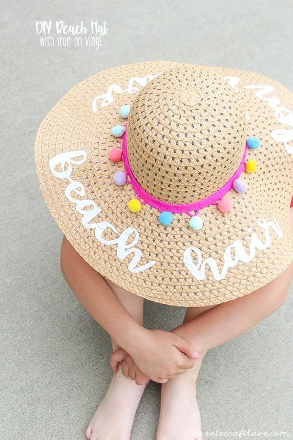 DIY Beach Hat with Iron On Vinyl - Create Craft Love