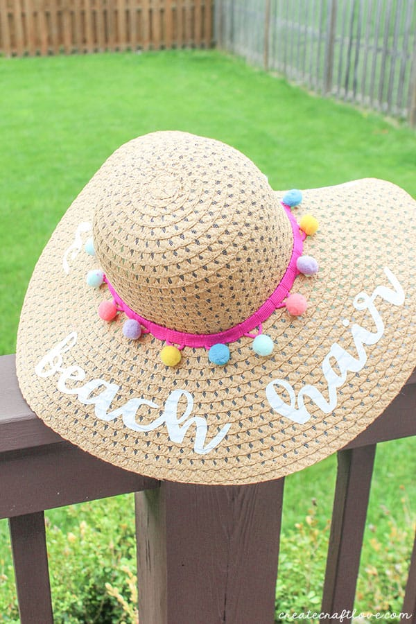 diy beach hat on deck