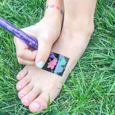 using your diy tattoo pen stencils