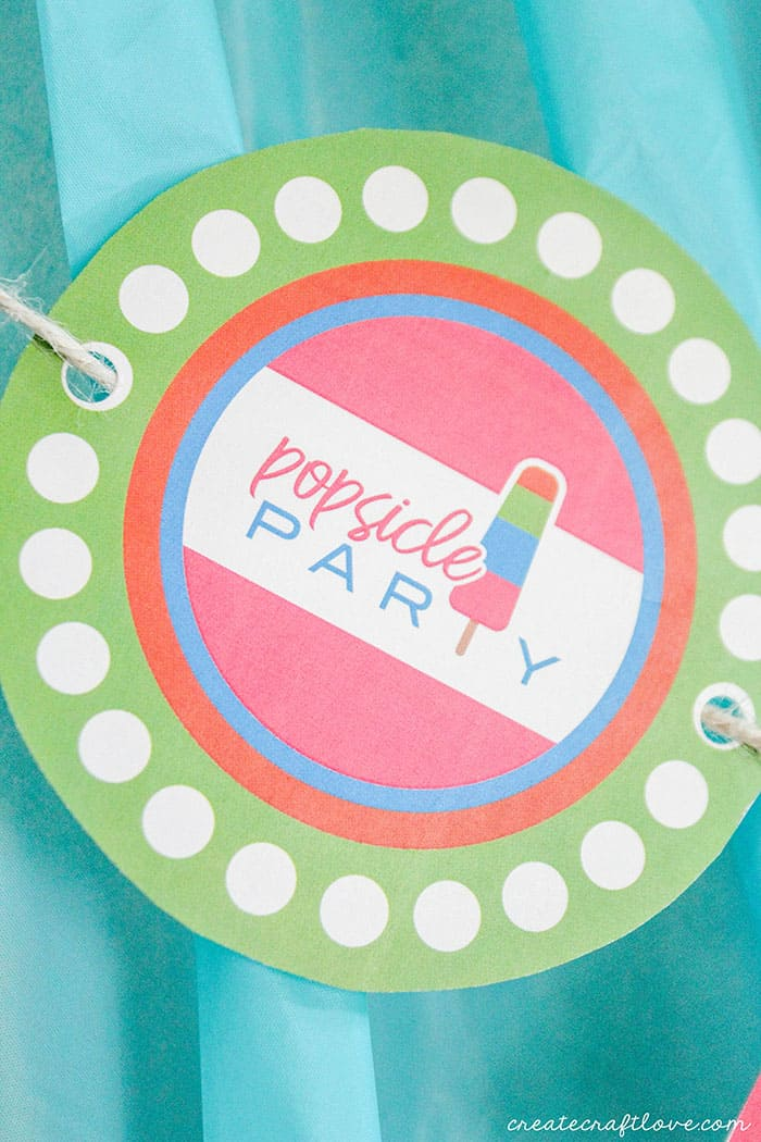 popsicle party banner