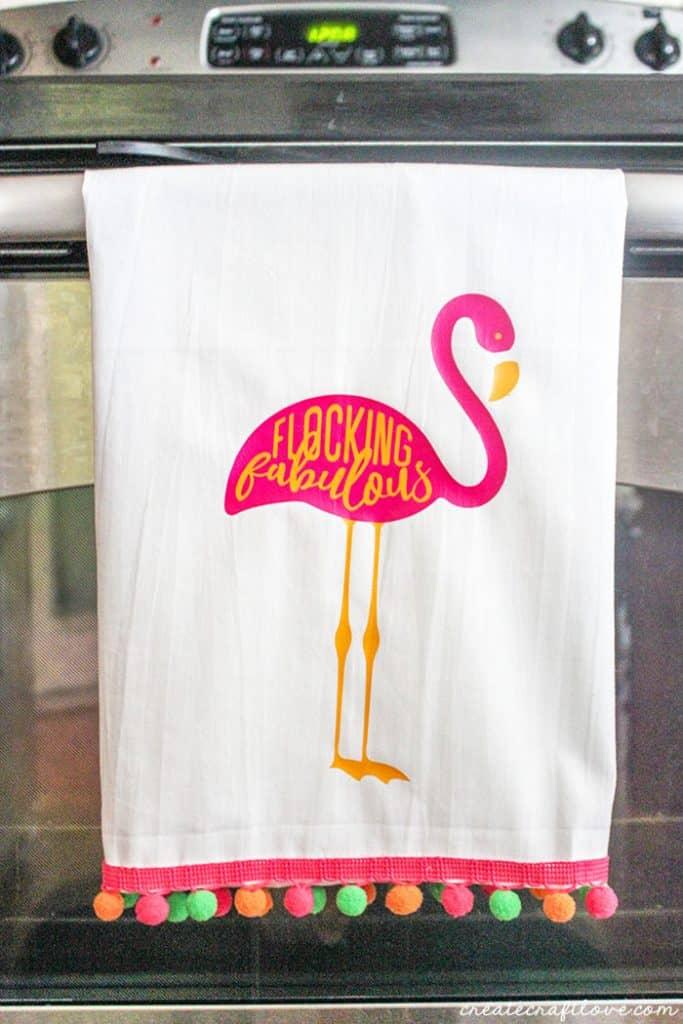 Flamingo No Sew Summer Towel