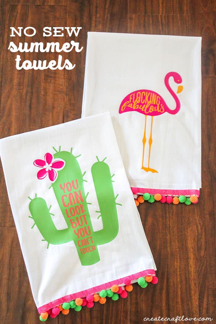 Add a pop of color to your kitchen this season with these No Sew Summer Towels!