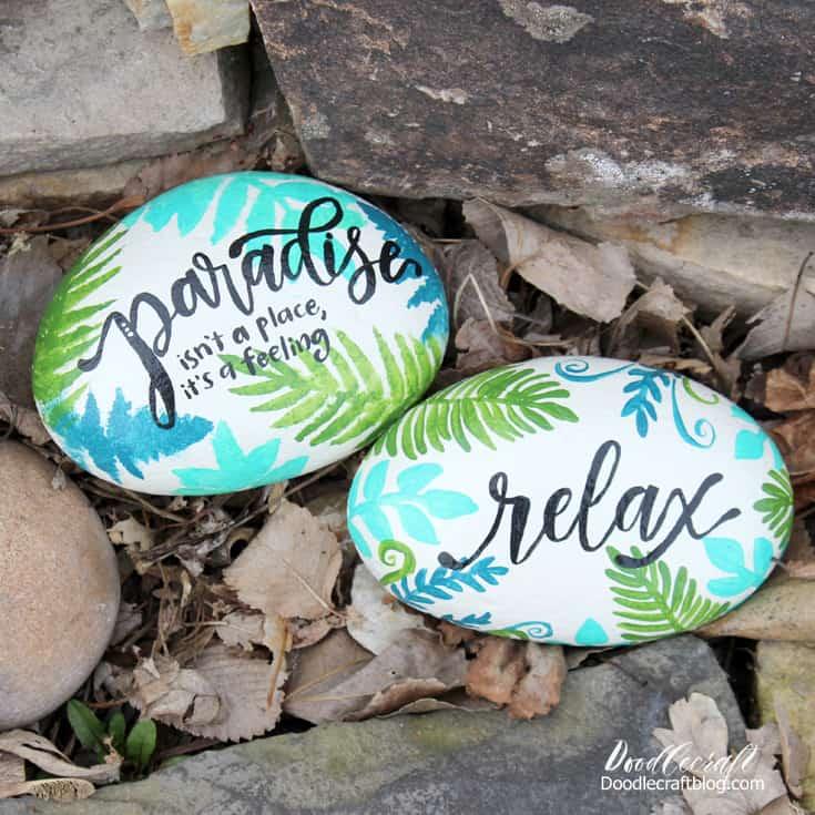 Herb Garden Marker Rocks