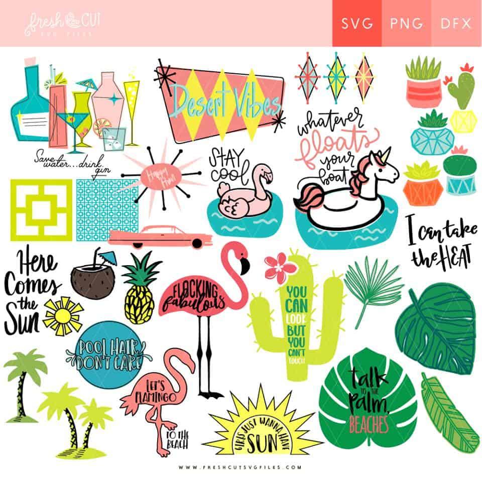 Palm Springs Fresh Cut SVG Bundle!