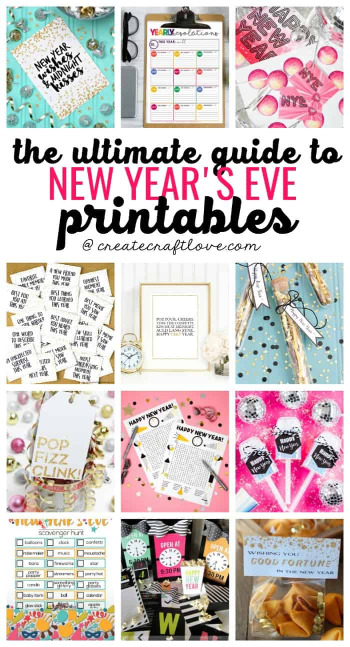 Get ready to ring in the new year with The ULTIMATE Guide to New Years Eve Printables!