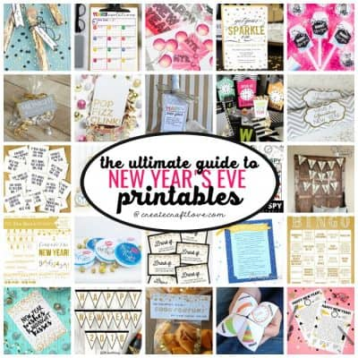 New Years Eve Printables to Celebrate