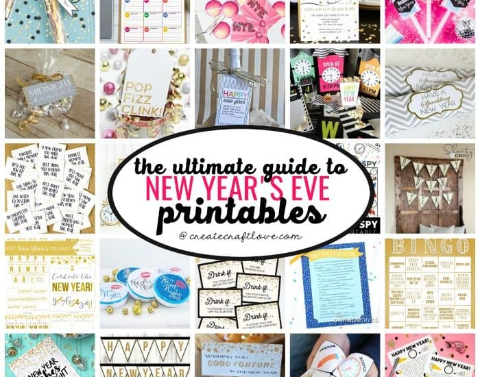 Get ready to ring in the new year with The ULTIMATE Guide to New Year's Eve Printables!