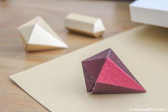 Completed 3D Paper Gem