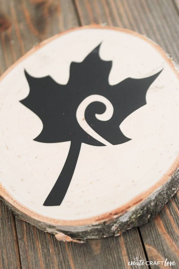 Maple Leaf Faux Wood Burnt Coasters