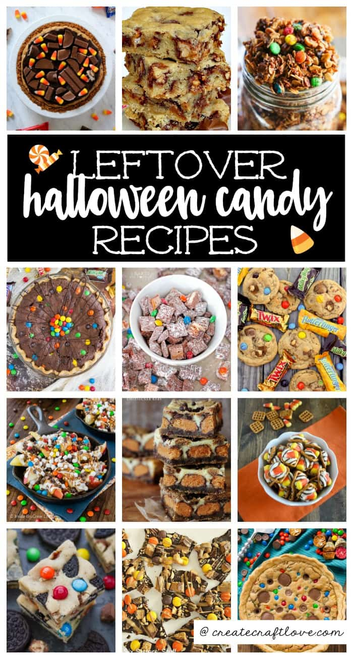 Try some of these delicious Leftover Halloween Candy Recipes instead of letting that candy go to waste!