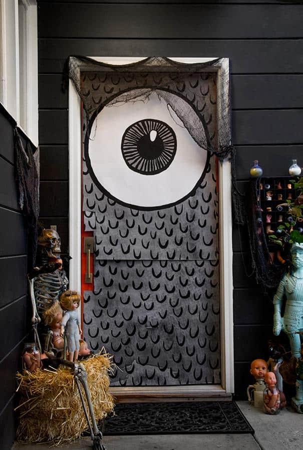 Halloween Door Decorations Easy Halloween Decor Ideas