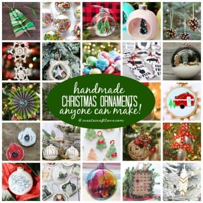 Decorate your Christmas tree with these Handmade Christmas Ornaments that anyone can make!