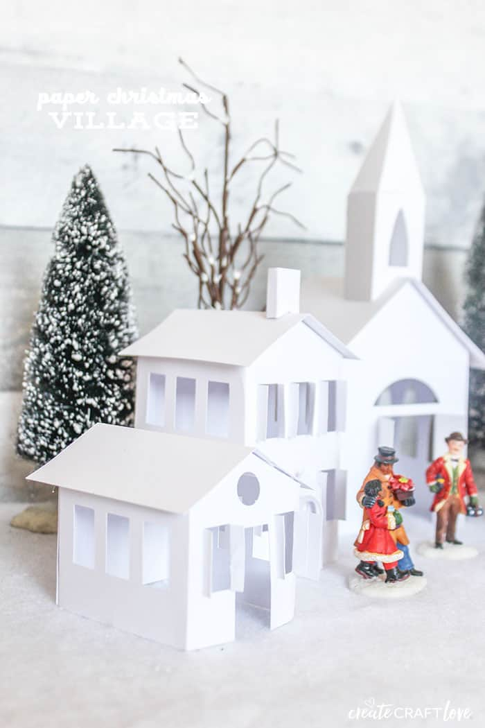 Capture that vintage holiday look with your own Paper Christmas Village!