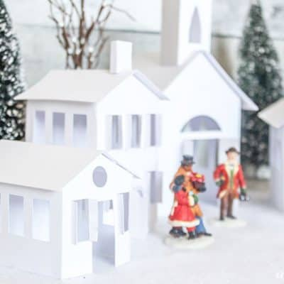 Vintage feel to this Paper Christmas Village!