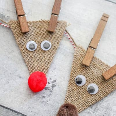 Burlap Reindeer Garland for Christmas