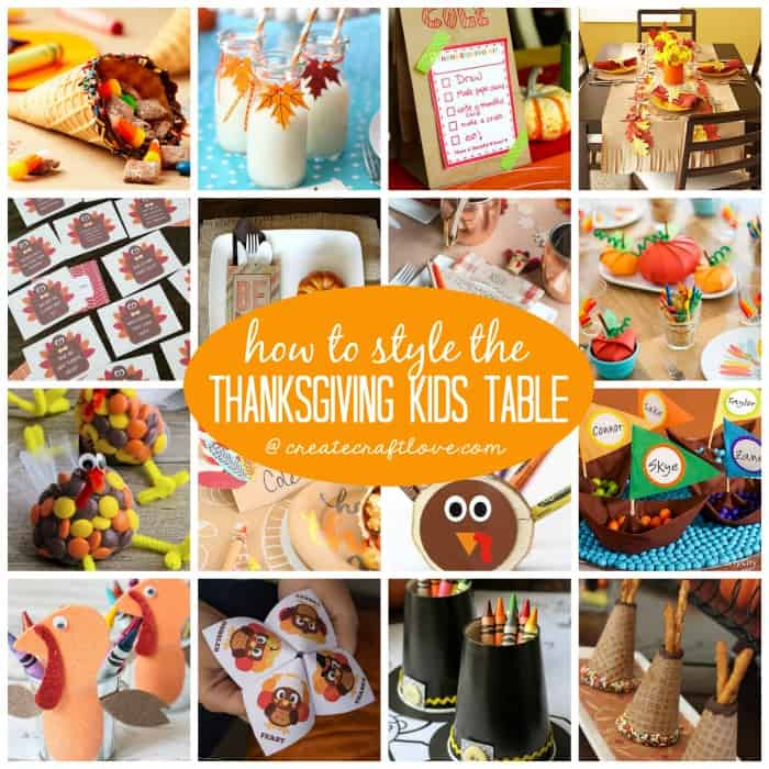 Learn how to style the Thanksgiving Kids Table with these creative ideas and treats!