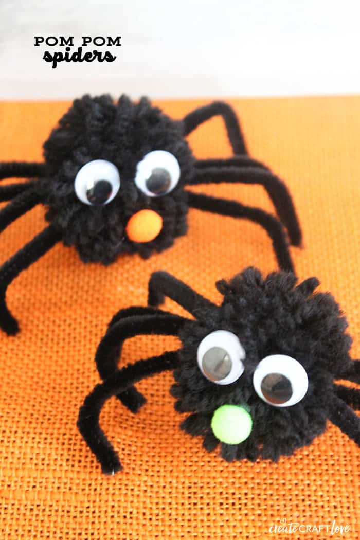 You won't be scared of these cute Pom Pom Spiders!