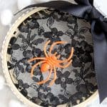 Spider Web Embroidery Hoop Art